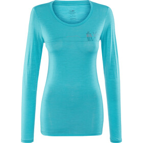Icebreaker Tech Lite Skis in Snow - T-shirt manches longues Femme - turquoise